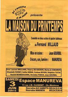 progamme de LA MAISON DU PRINTEMPS DES 2 ET 3 JUIN 2000