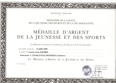 DIPLOME MEDAILLE D`ARGENT